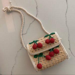 Zara Girls Rattan Woven Purse Crossbody Bag